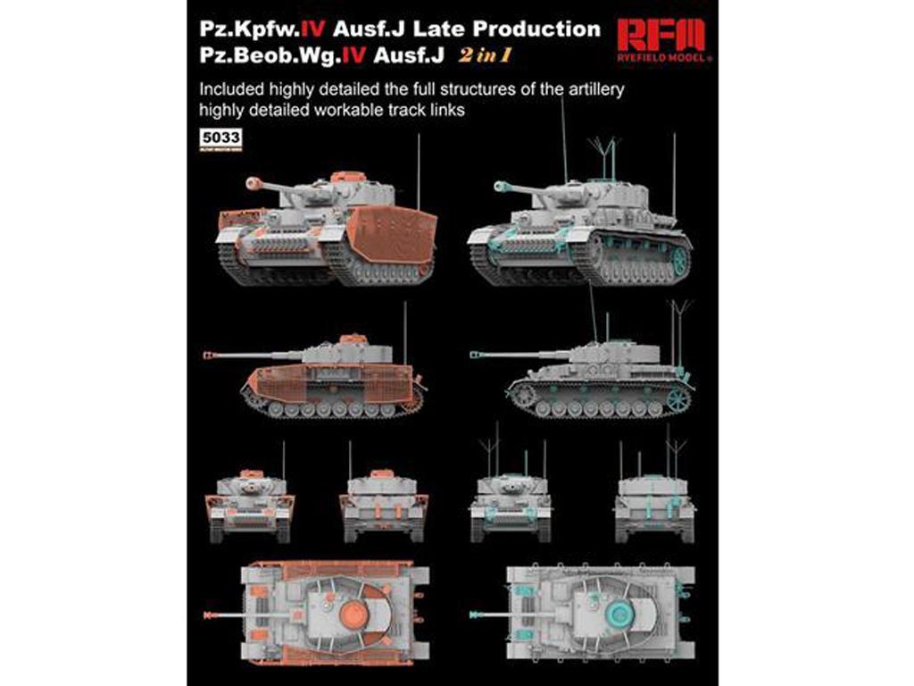Pz.kpfw.IV Ausf.J Late Prod. Pz.Beob.Wg.IV Ausf.J 2in1 (Vista 4)