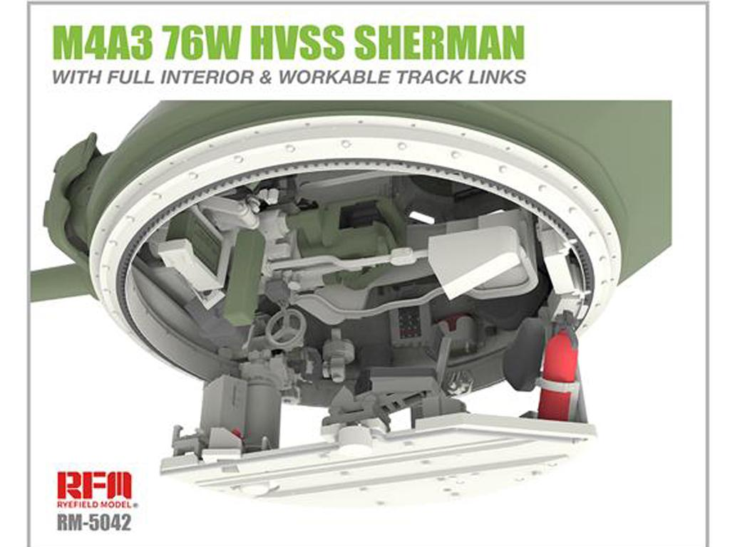 M4A3 76W HVSS Sherman with full interior & workable track links (Vista 7)