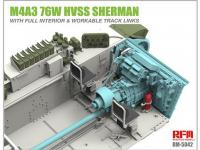 M4A3 76W HVSS Sherman with full interior & workable track links (Vista 12)