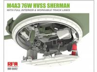 M4A3 76W HVSS Sherman with full interior & workable track links (Vista 14)