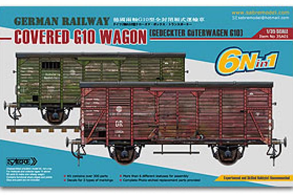 Vagón cubierto del Ferrocarril Alemán G1 - Ref.: SABR-35A01