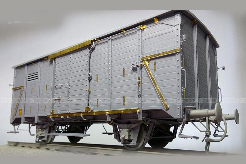 Vagón cubierto del Ferrocarril Alemán G1  (Vista 2)