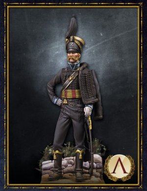 Hussar officer, Brunswick. 1815  (Vista 1)