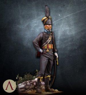 Hussar officer, Brunswick. 1815  (Vista 3)