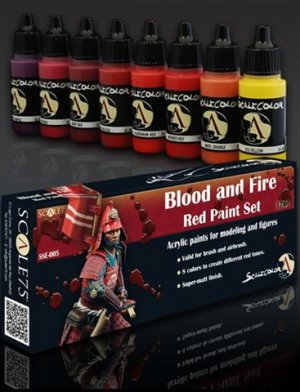 Blood and Fire Red Painta Set - Ref.: SC75-SSE005
