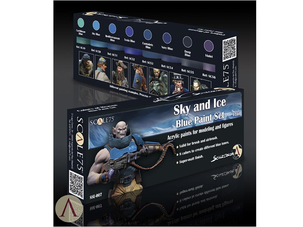 Sky & Ice Blue Paint Set (Vista 3)