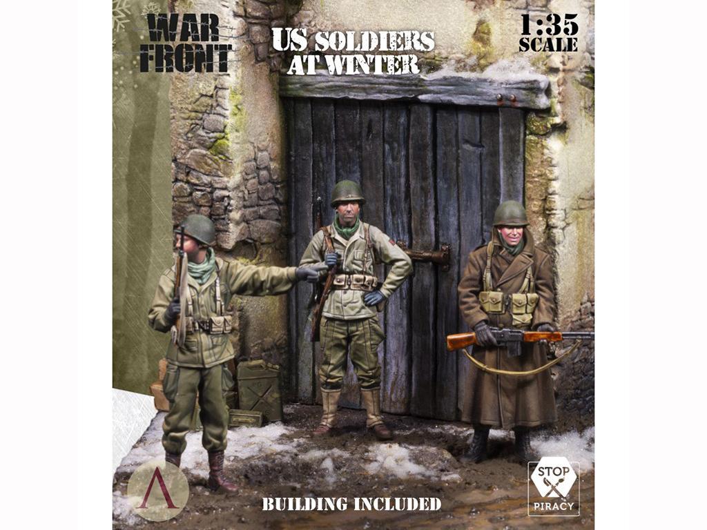 Soldados de EE.UU. en el invierno (Vista 1)