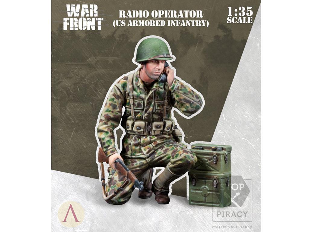 Operador de radio Infantería EE.UU. (Vista 1)