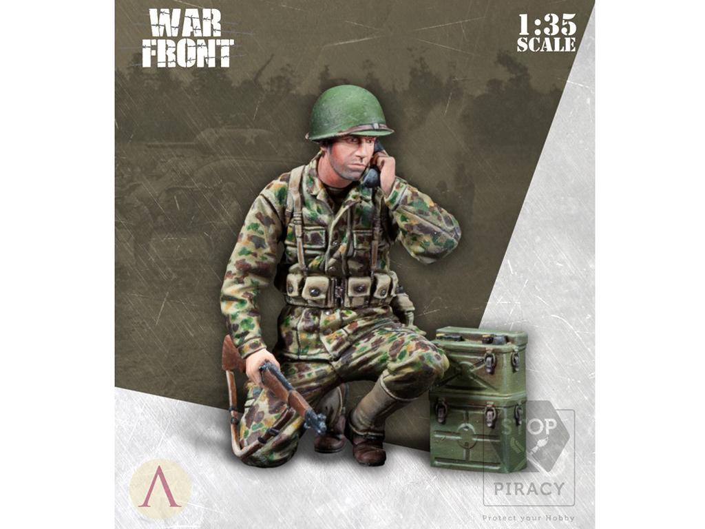 Operador de radio Infantería EE.UU. (Vista 3)