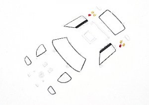 Despiece Carrocería Ford GT40 (cristales  (Vista 1)