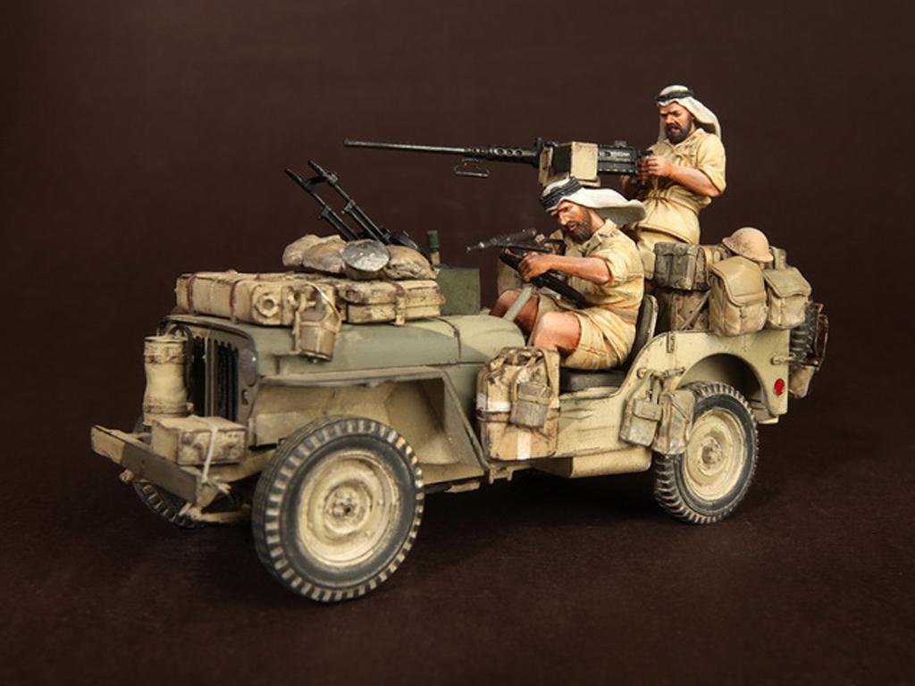 Tripulación del Jeep SAS. África del Norte.1941-42 (Vista 1)