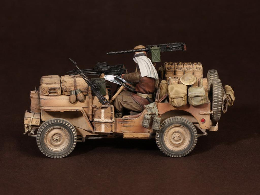 Tripulación del Jeep SAS. África del Norte.1941-42 (Vista 4)