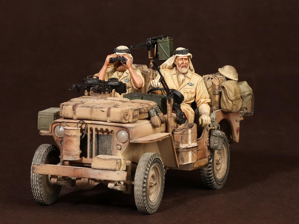 Tripulación del Jeep SAS. África del Norte.1941-42 (Vista 2)