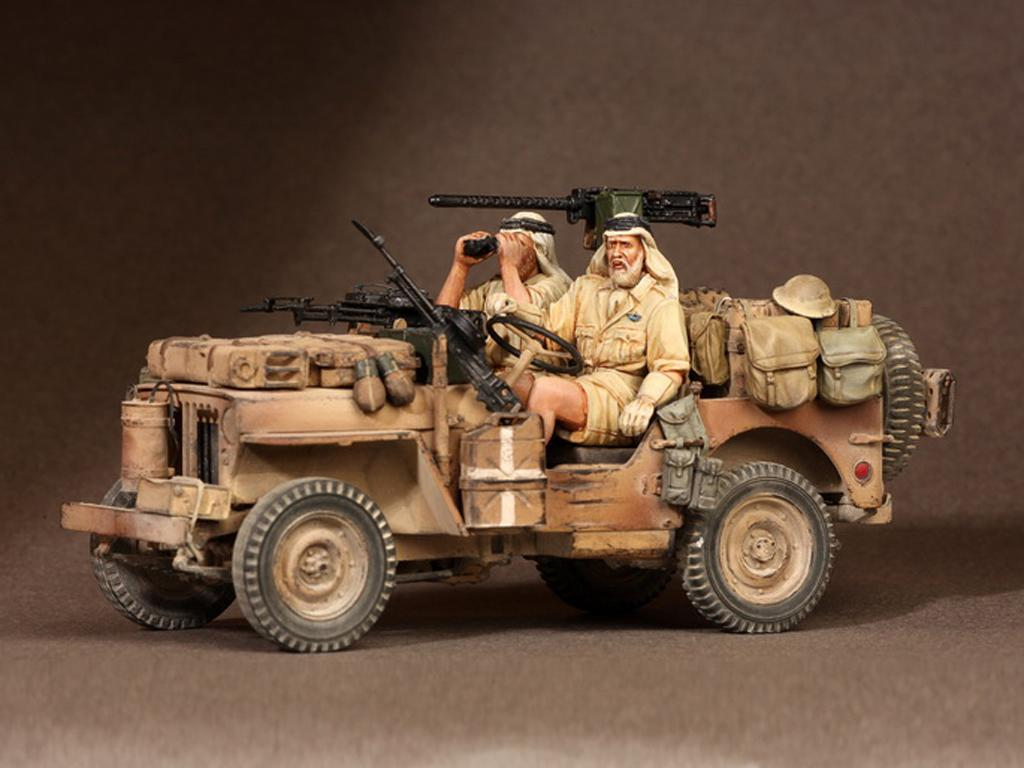 Tripulación del Jeep SAS. África del Norte.1941-42 (Vista 3)