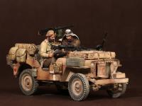 Tripulación del Jeep SAS. África del Norte.1941-42 (Vista 20)