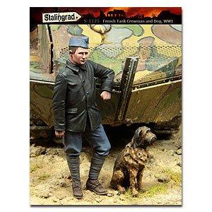 Tanquista Frances y perro WWI  (Vista 1)