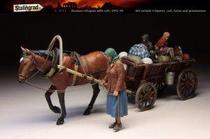 Russian refugees with cart  (Vista 1)