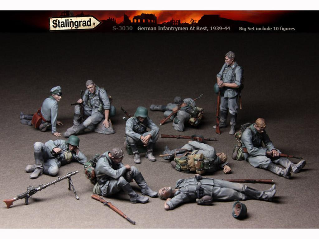 German Infantrymen At Rest 1939-44Big Se  (Vista 1)