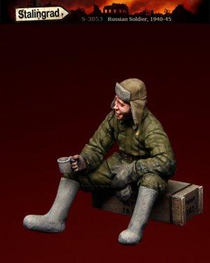 Soldado Ruso sentado  (Vista 2)
