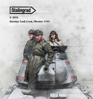 Tanquistas Rusos Ucrania 1944  (Vista 1)