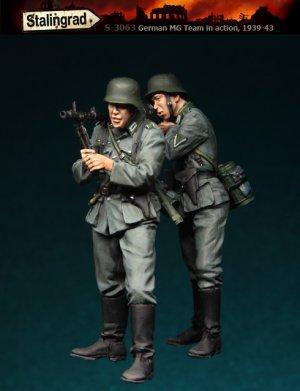 Infanteria Alemana con MG  (Vista 1)