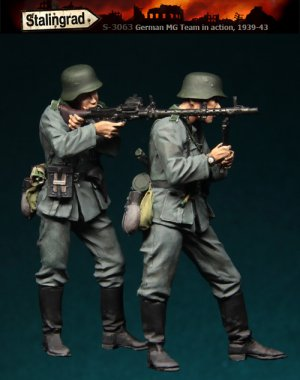 Infanteria Alemana con MG  (Vista 2)