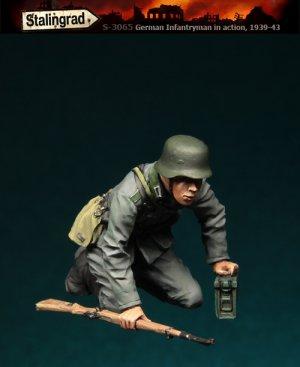 Infanteria Alemana Agachado  (Vista 1)