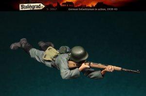 Infanteria Alemana Tumbado y apuntando  (Vista 2)