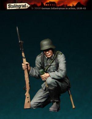 Infanteria Alemana en cuclillas  (Vista 1)