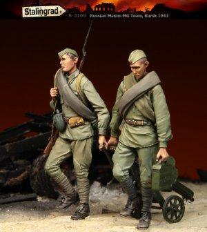 Soldados Rusos con MG Kursk  (Vista 1)