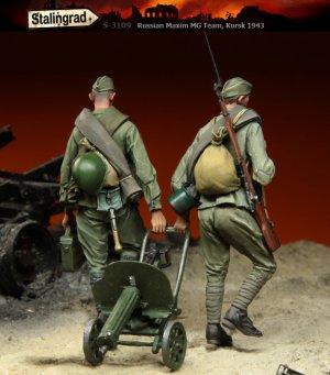 Soldados Rusos con MG Kursk  (Vista 2)