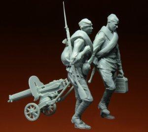 Soldados Rusos con MG Kursk  (Vista 6)