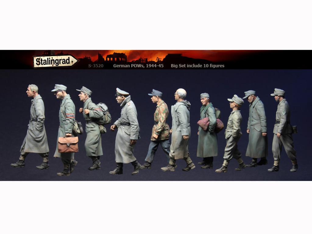 German POWs, Big Set 10 figures  (Vista 1)
