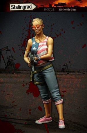 Mujer con arma  (Vista 2)