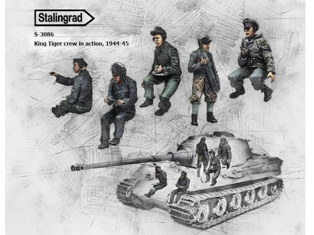 Tripulación del King Tiger en acción, 1944-45 (Vista 1)