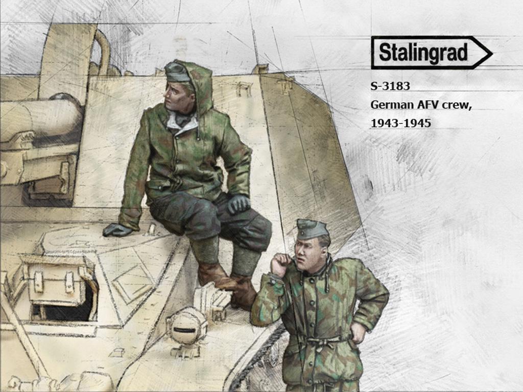 Tripulación AFV Alemana,  1943-45 (Vista 1)