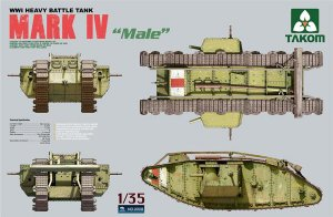 British MK.IV Male Heavy Tank - Ref.: TAKO-2008