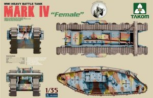 British MK.IV Female Heavy Tank - Ref.: TAKO-2009