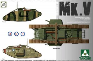 WWI Heavy Battle Tank MarkV - Ref.: TAKO-2034
