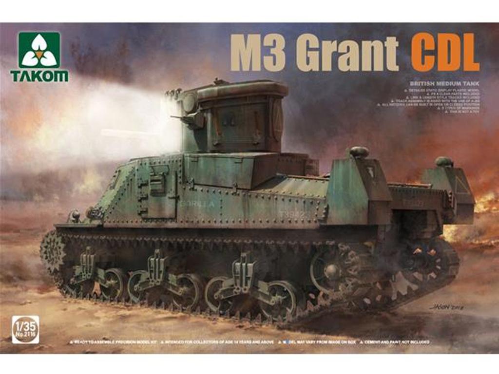 British Medium Tank M3 Grant CDL - Ref.: TAKO-2116