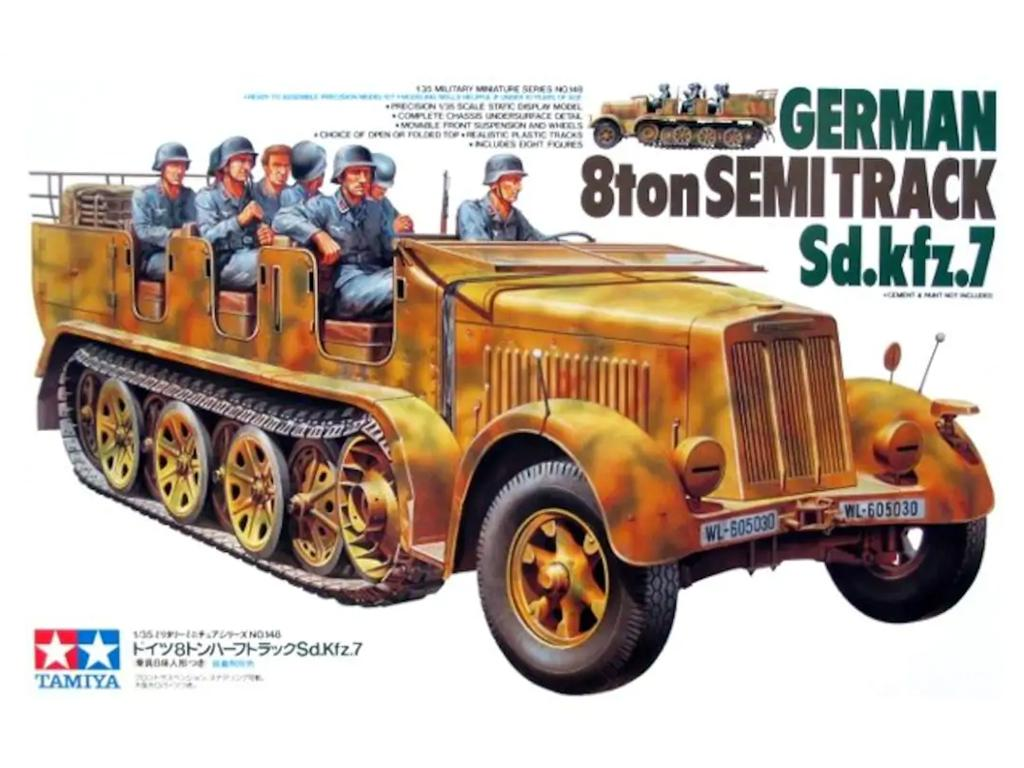 German 8 ton Semi-Track