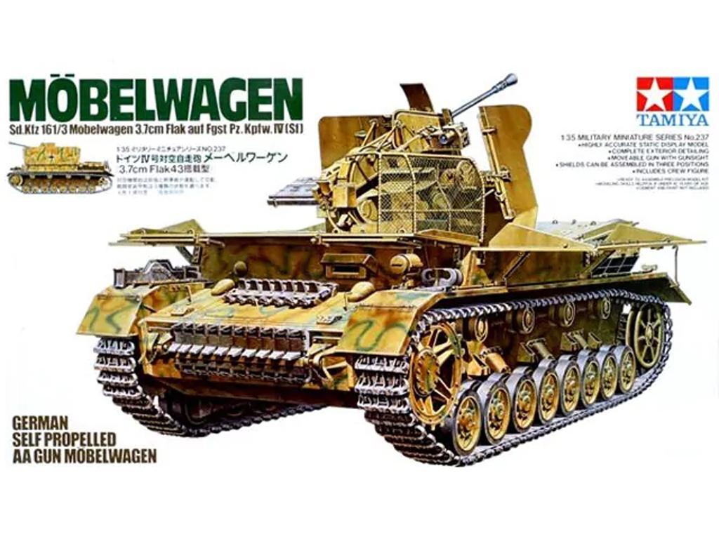 German Flakpanzer Moebelwagen 3.7cm Flak - Ref.: TAMI-35237