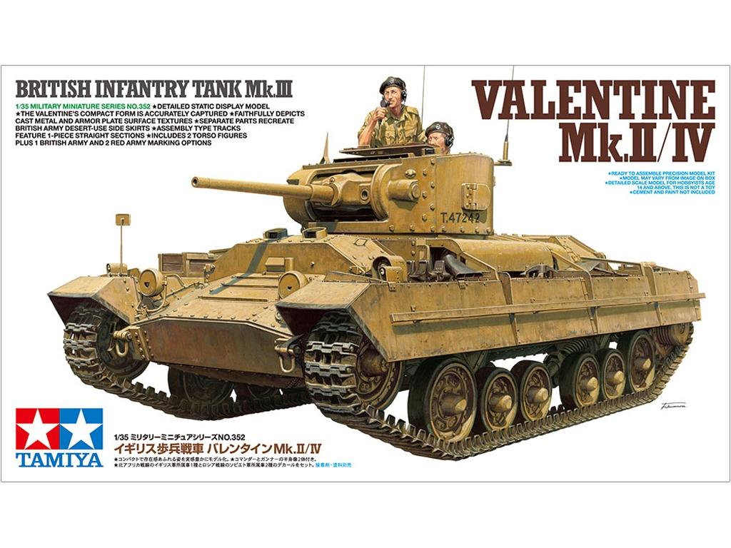 Tanque Británico Valentine Mk.II/IV - Ref.: TAMI-35352