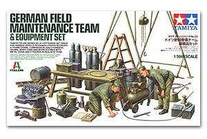 German Field Maintenance Team and Equipm