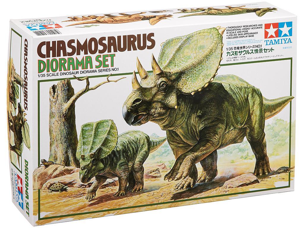 Diorama del Chasmosaurus  (Vista 1)
