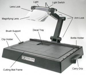 Mesa de trabajo para modelismo con Lupa  (Vista 2)