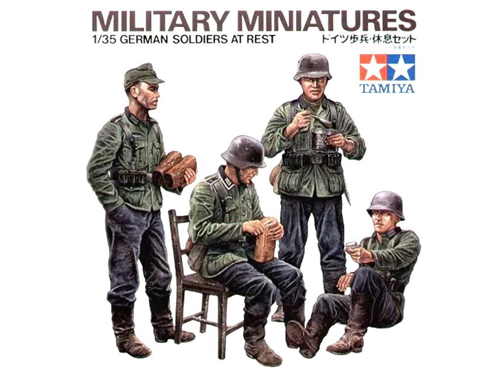 Soldados de la Wermatch descansando (Vista 1)