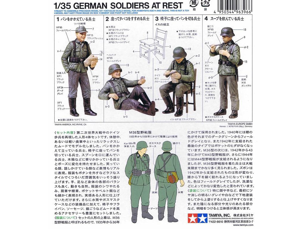 Soldados de la Wermatch descansando (Vista 2)