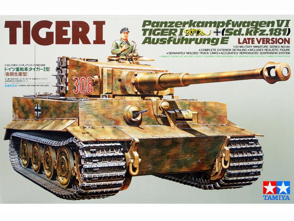 Tanque Aleman Tiger I ultima versión (Vista 1)