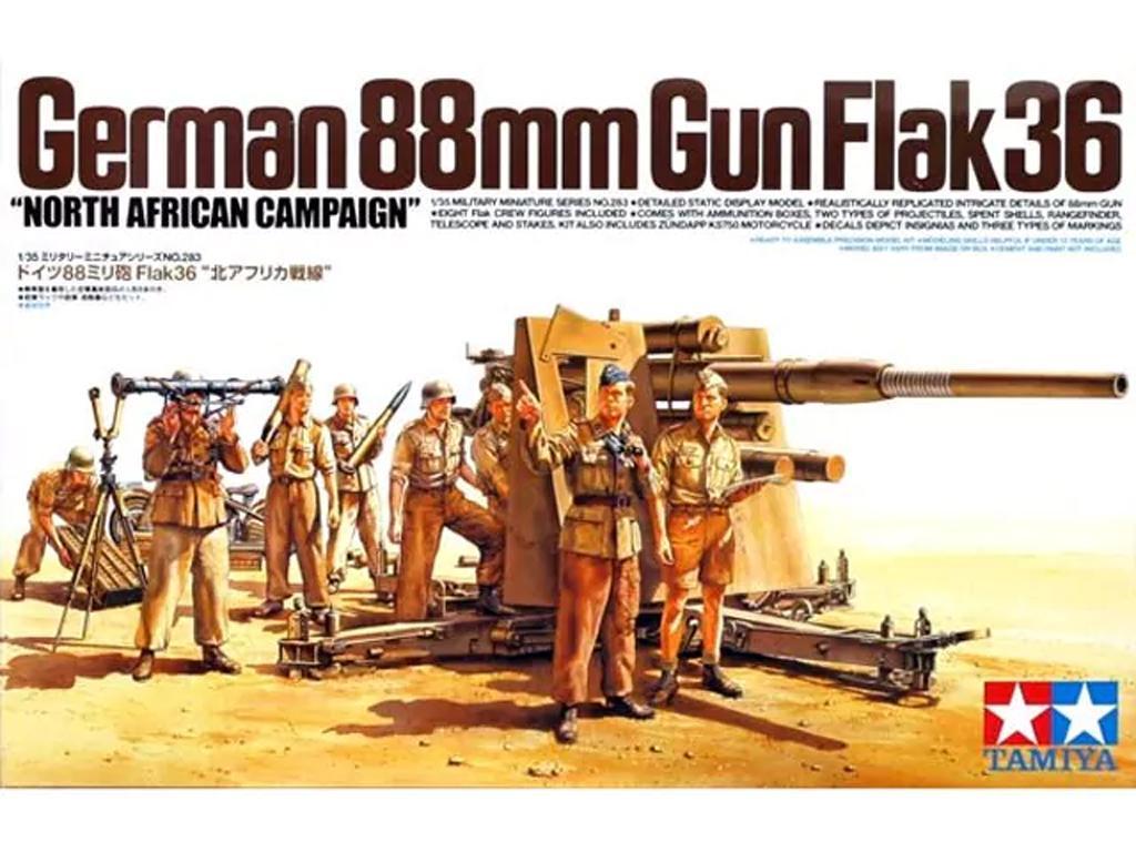 Cañon Aleman  88 mm Flak36 (Vista 1)